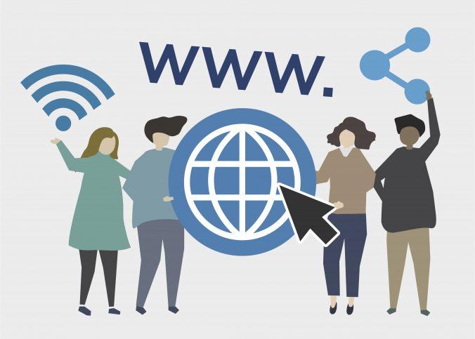 Ilustração relacionada à internet e domínio de sites. | O que é domínio de sites? - Superbiz